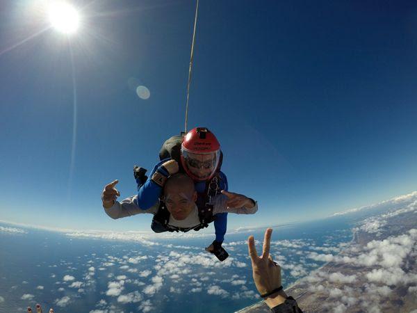 Skydiving 13,000 feet above Oceanside, California...on October 4, 2018.