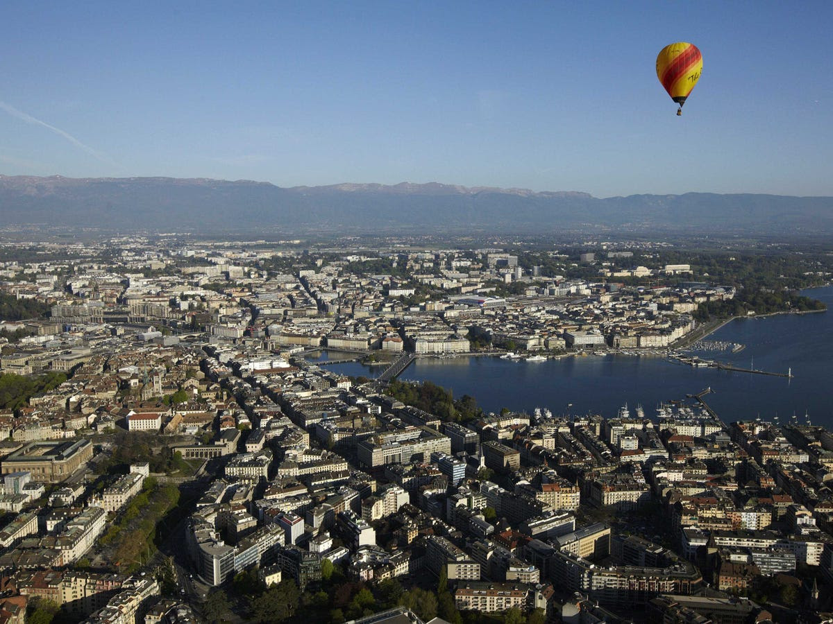 12.) GENEVA is the third most important European city for finance, and Switzerland's second-most important, showing the country's clout.
