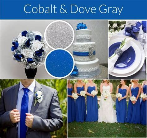 Cobalt blue and gray wedding theme. Compare to David's