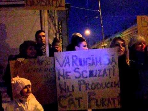 Proteste şi la Vatra Dornei [VIDEO]