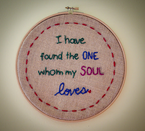 """""""I have found the one"""" embroidery"""