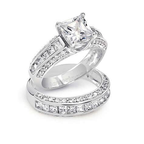 choucong Princess cut Stone 5A Zircon stone 10KT White
