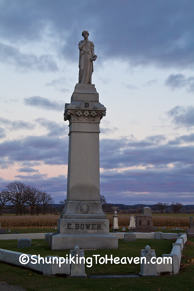 Bowen Family Plot, Greenwood Cemetery, Brodhead, Wisconsin