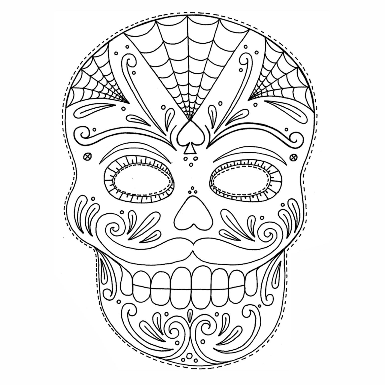 Desenhos De Caveiras Mexicanas Para Colorir Mmod