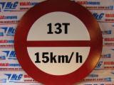 Biển báo tròn đường kính 60cm - hạn chế tải trọng và tốc độ