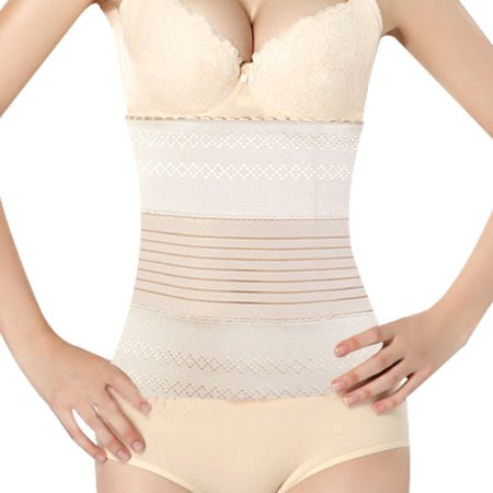 Allegra K Women's Underbust Belt Waist Girdle Body Control Shaper Cincher Corset