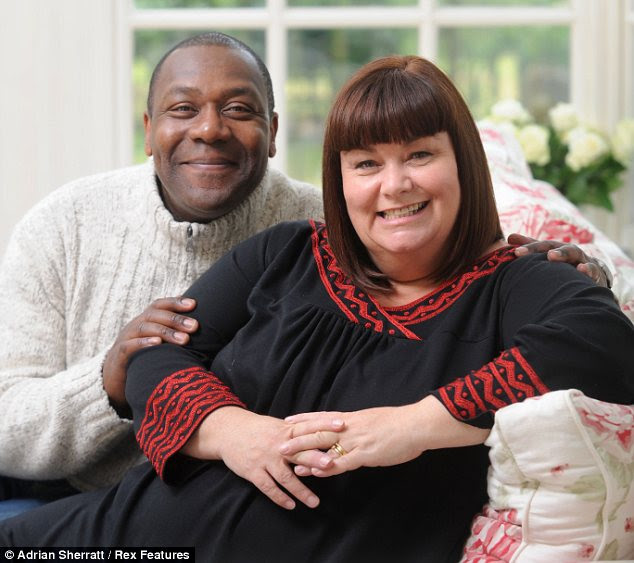 The ex- factor: Dawn was married to Lenny Henry for 24 years before the pair divorced in 2010