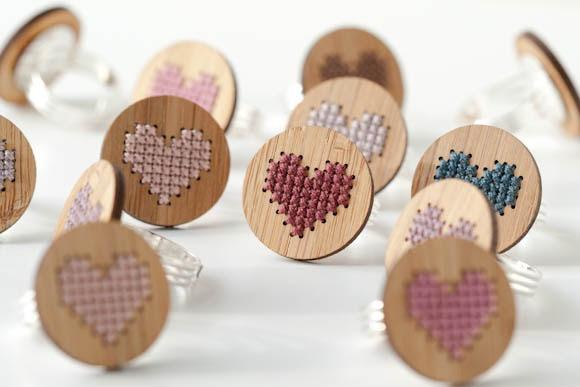 Cross stitch jewlery