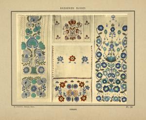 Essuie-mains brodés. Digital ID: 1555900. New York Public Library
