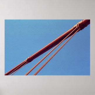 Golden Gate Bridge Suspension Cable print