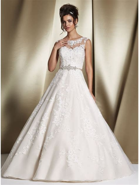 Ronald Joyce 68060 ROBYN Lace Bridal Gown With Detachable