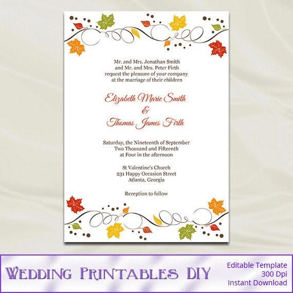 Editable Wedding Invitation Card - Calendar June