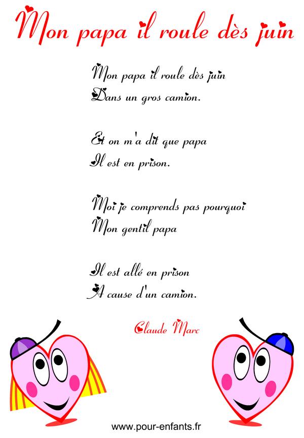Fête Des Pères Poème Humoristique à Imprimer En Images Poemes