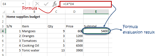 Introduction to formulas and functions in Excel
