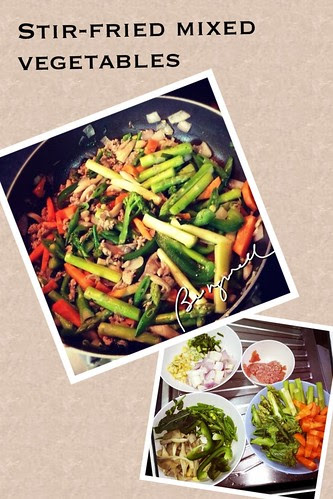 Cooking stir-fried vegetables