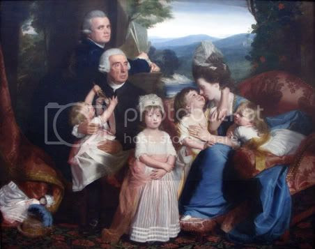 Copley and his family