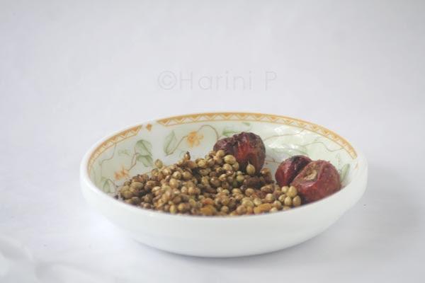 Arachhu utta sambar whole spices