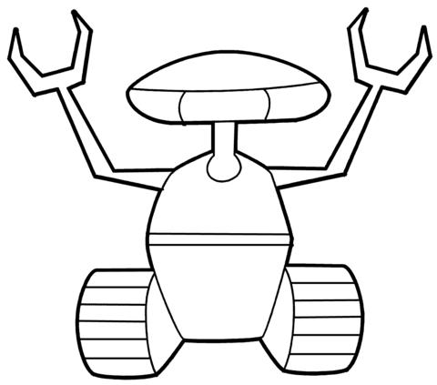 Dibujo De Robot Adulador Para Colorear Dibujos Para Colorear