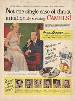 Camels advert