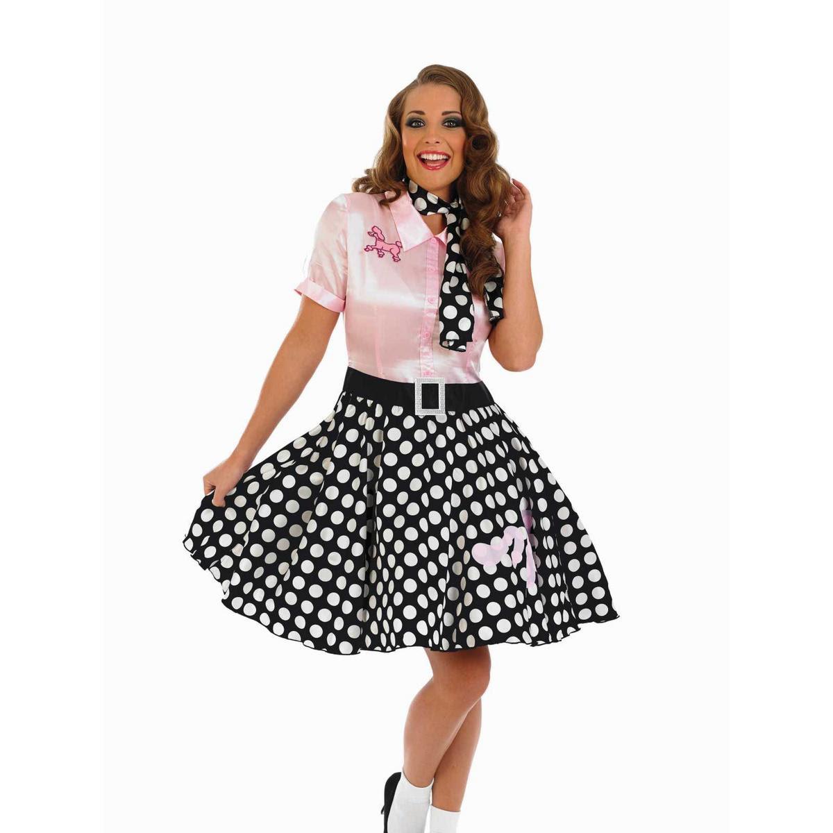 1950s rock n roll girl fancy dress ladies 50s womens