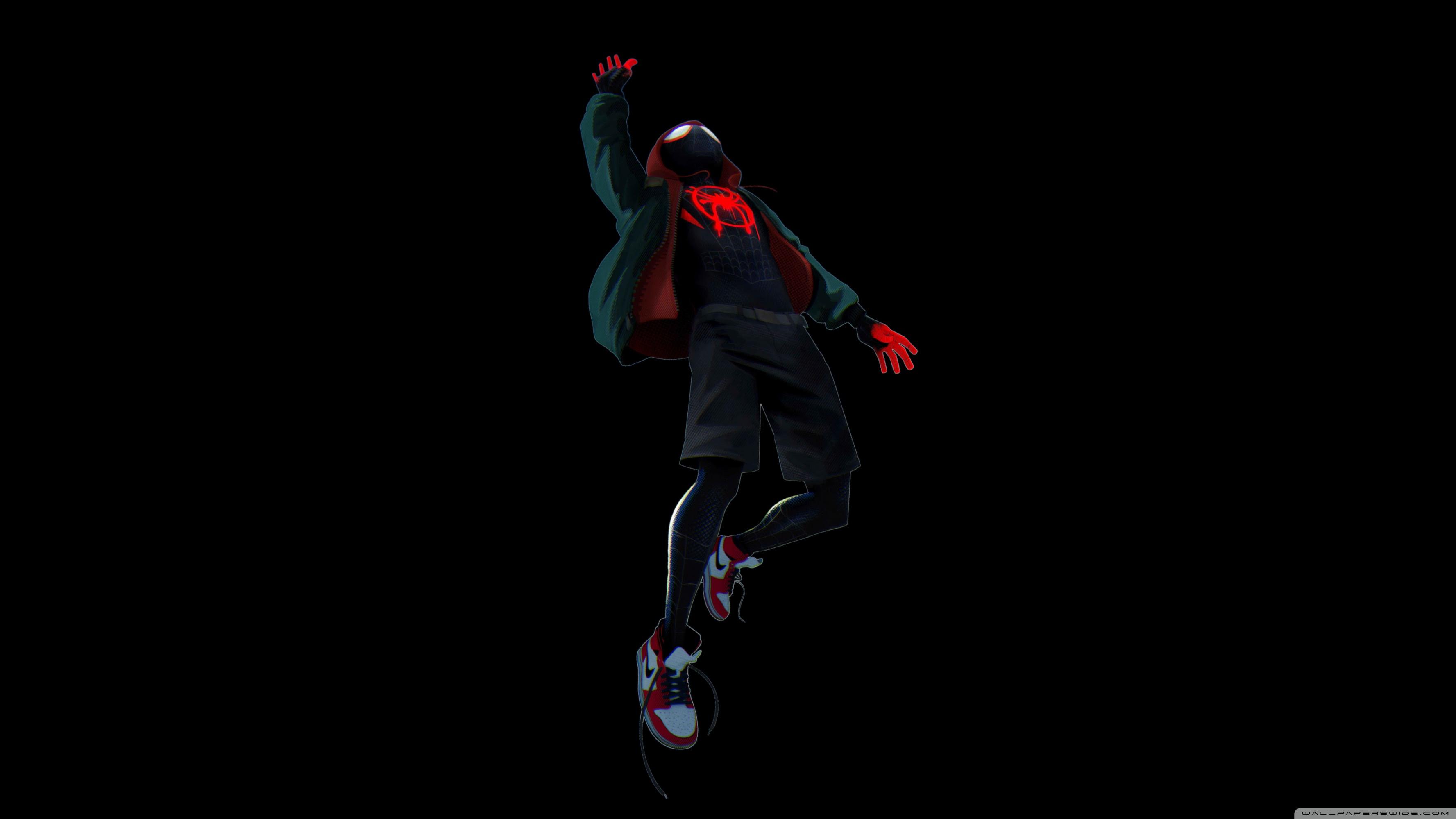 Spider Man Into The Spider Verse Black Ultra Hd Desktop Background