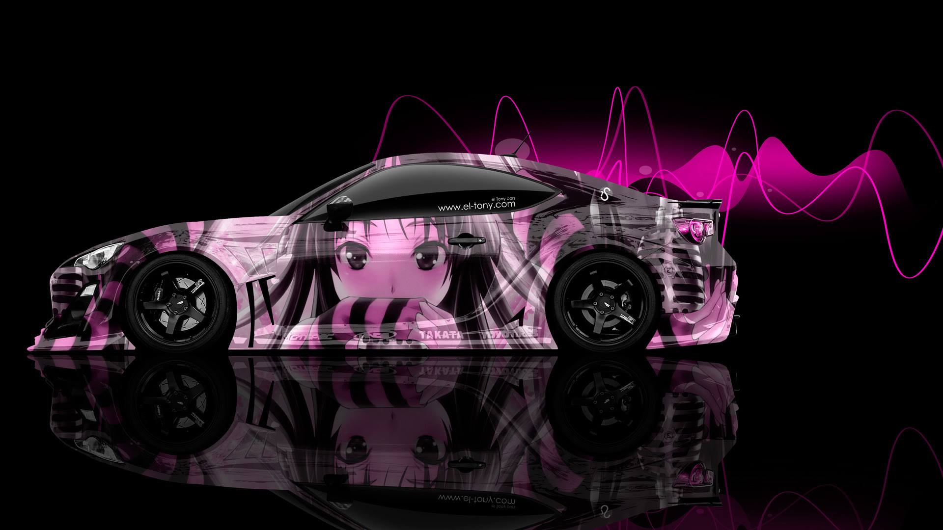 Toyota GT86 JDM Side Anime Aerography Car 2014 | el Tony