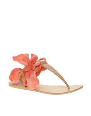 Image 1 ofASOS FIFE Leather Tie Leg Sandals