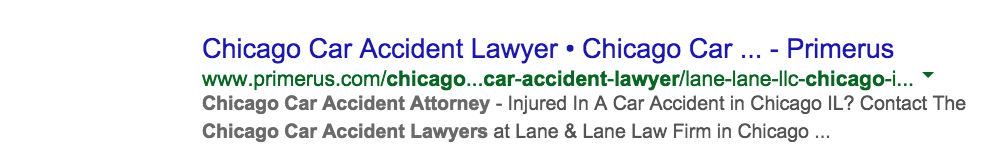 Chicago Car Accident Lawyer Google Search Results Over Time  Wojdylo Social Media