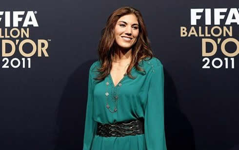 USA goalkeeper, Hope Solo, at FIFA Balon d'Or 2011-2012 gala and ceremony