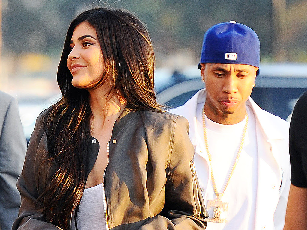 Kylie Jenner and Tyga Step Out Holding Hands at Kanye West's Premiere| TV News, Kanye West, Kylie Jenner, Tyga