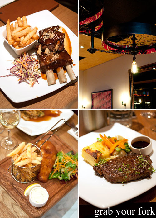venison spare ribs, rib eye steak and fish and chips at pedal pusher christchurch