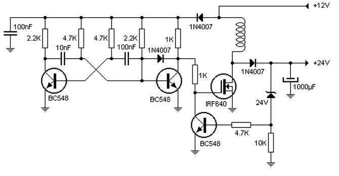 12v To 24vdc Inverter Schematic Circuit Diagram Images