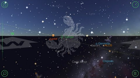 See Satellites and Stars Location in Real Time Starwalk iPhone