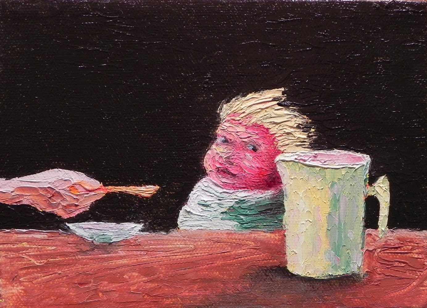 "After Bonnard, 7""x5"" oil on canvas"