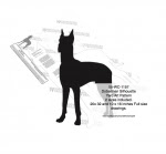 Doberman Dog Silhouette Yard Art Woodworking Pattern - fee plans from WoodworkersWorkshop® Online Store - dobermans,great danes,pets,animals,yard art,painting wood crafts,scrollsawing patterns,drawings,plywood,plywoodworking plans,woodworkers projects,workshop blueprints