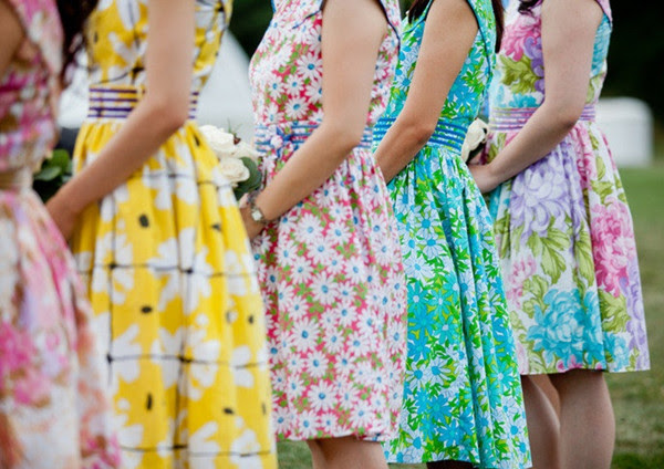 Vintage Colorful Rustic Bridesmaids Collection