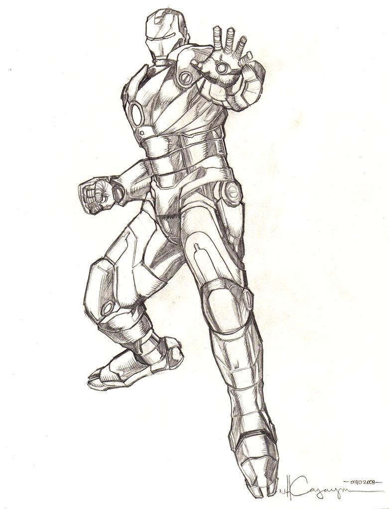 Iron Man Mark 3 Pencil 1 by ncajayon on DeviantArt
