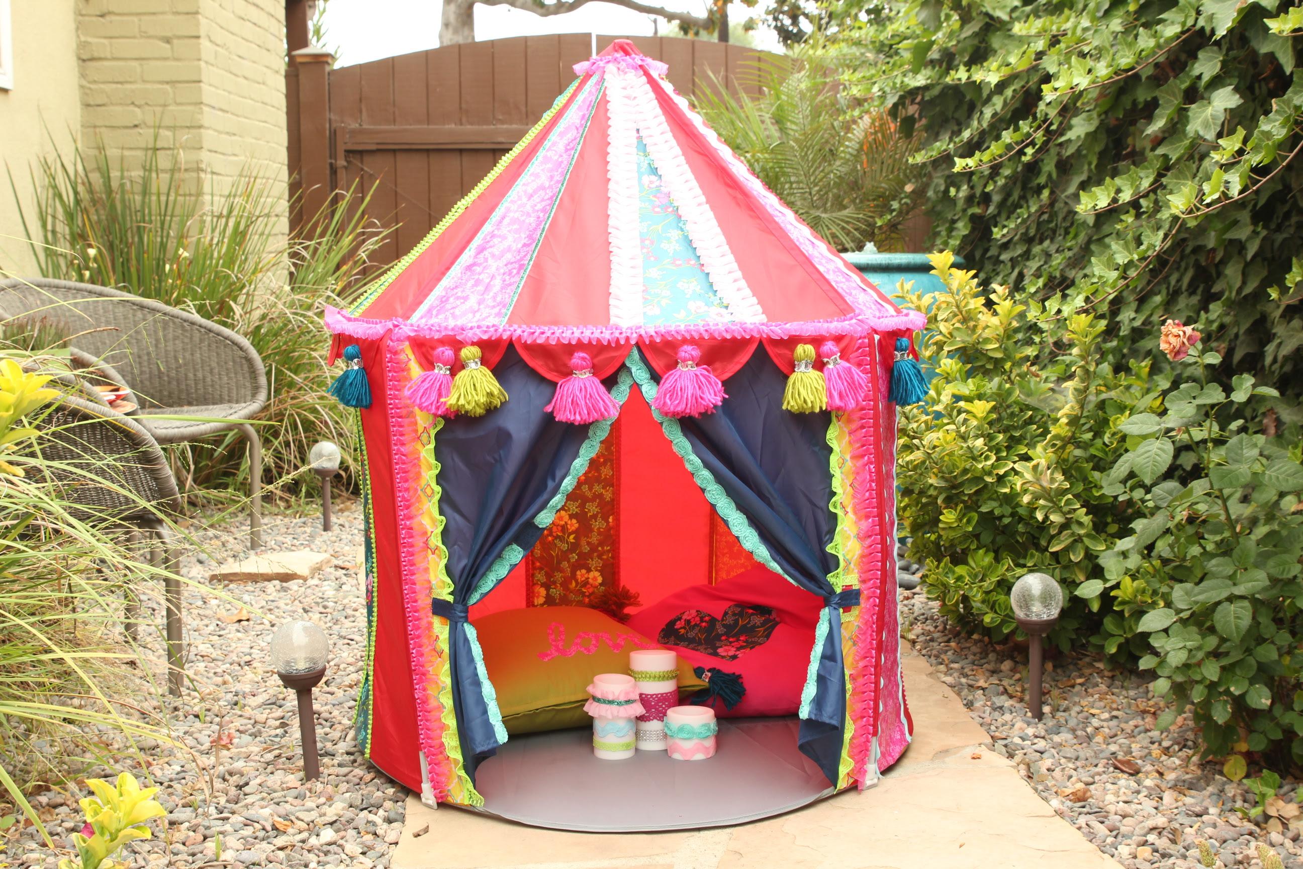 Ikea Hack! Make a Boho Play Tent from the CIRKUSTÄLT Tent ...