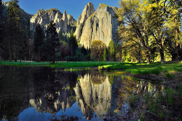 Cathedral Rocks and Spires,                                                           Yosemite                                                           National Park,                                                           California