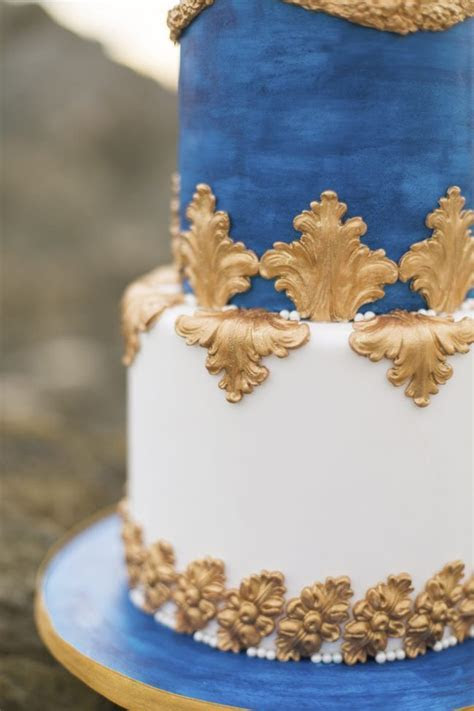 Royal Blue, Gold   White Grecian Inspired Wedding Ideas