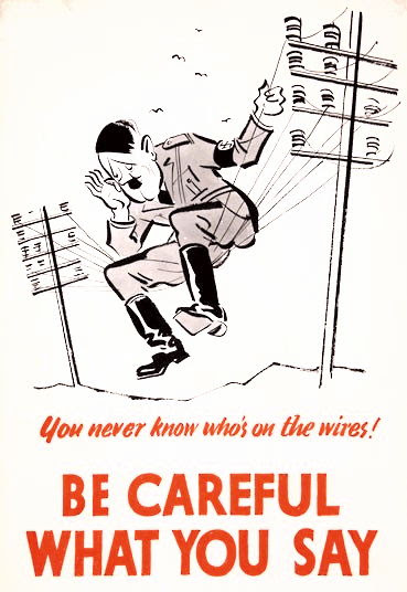 Hitler on the wire, British World War II propaganda poster