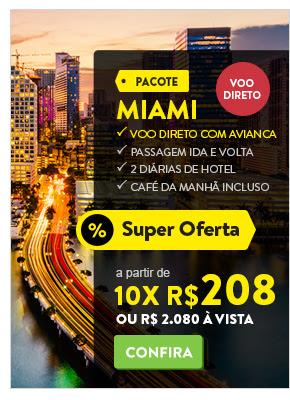 Pacote para Miami a partir de 2.080 reais.