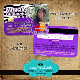 Zebra Purple Quinceanera Invitations   Credit Card