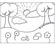 Ahmedatheism Gambar Pemandangan Untuk Mewarnai Anak