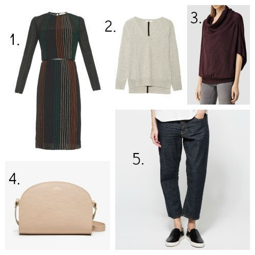 Vanessa Bruno Dress - Duffy Sweater - All Saints Sweater - A.P.C. Handbag - 6397 Jeans