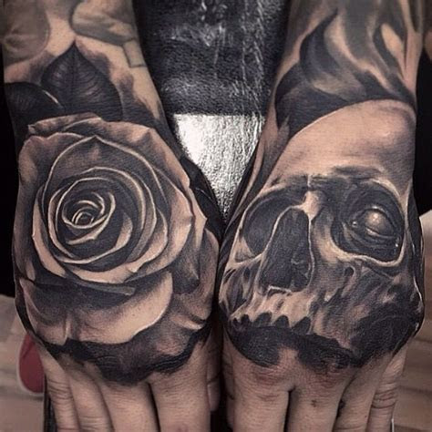 rose tattoo hand images pinterest arm