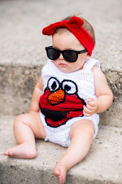Elmo Romper Crochet Pattern