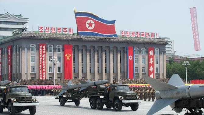 North Korea mounted its largest ever military parade on July 27, 2013, to mark the 60th anniversary of the armistice that ended fighting in the Korean War, displaying its long-range missiles at a ceremony presided over by leader Kim Jong-Un