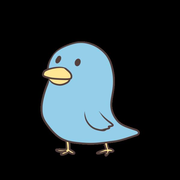 青い鳥のイラスト かわいいフリー素材が無料のイラストレイン