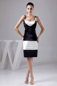 Black and white petite evening dresses